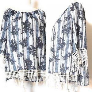 Est 1946 blouse, Sz xl, floral print, tunic